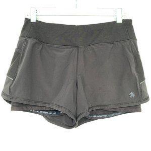 Athleta Running Free Pockets Shorts S Gym Black